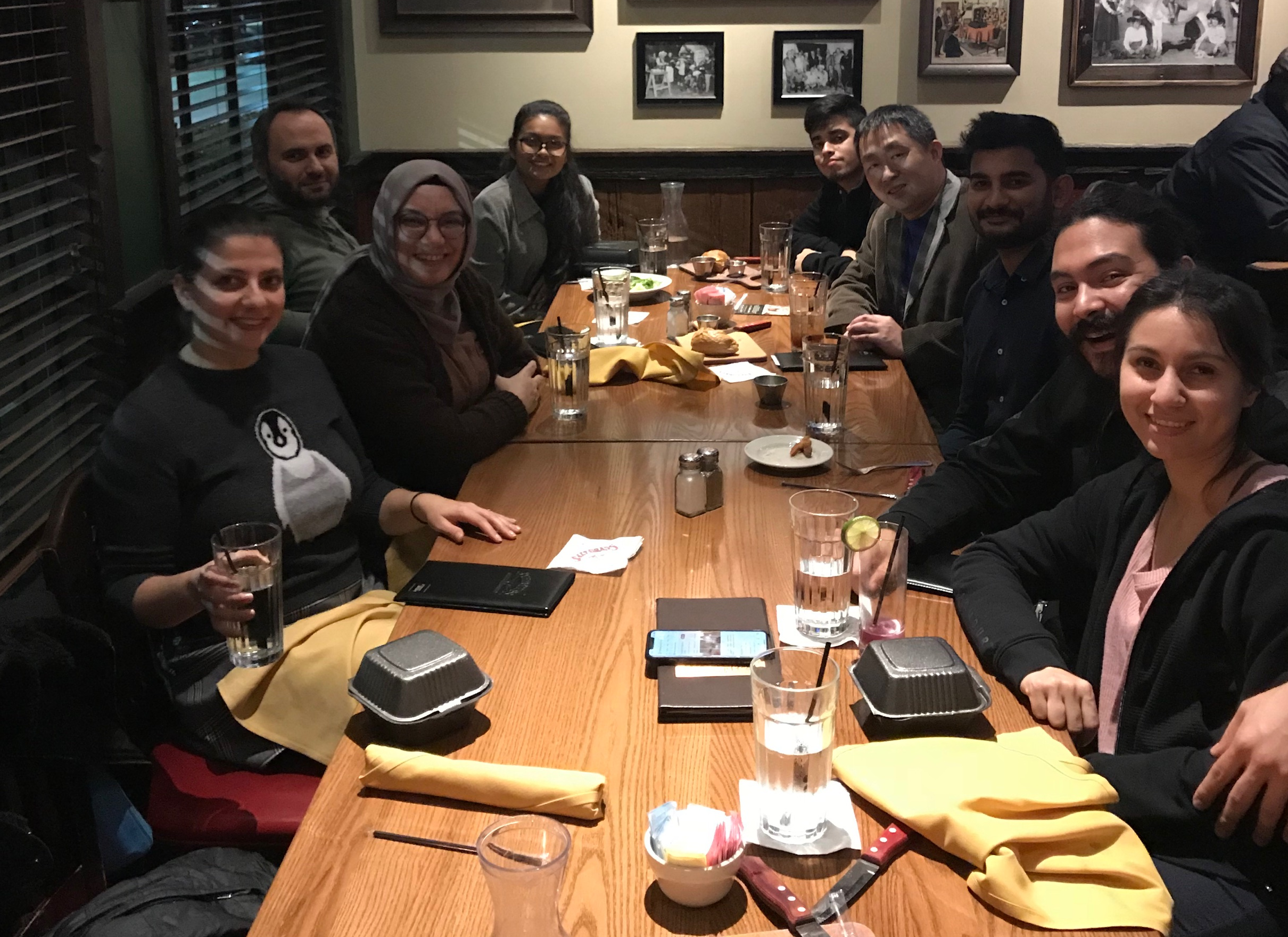Farewell dinner for Summet Lubal (Jan. 8, 2020)